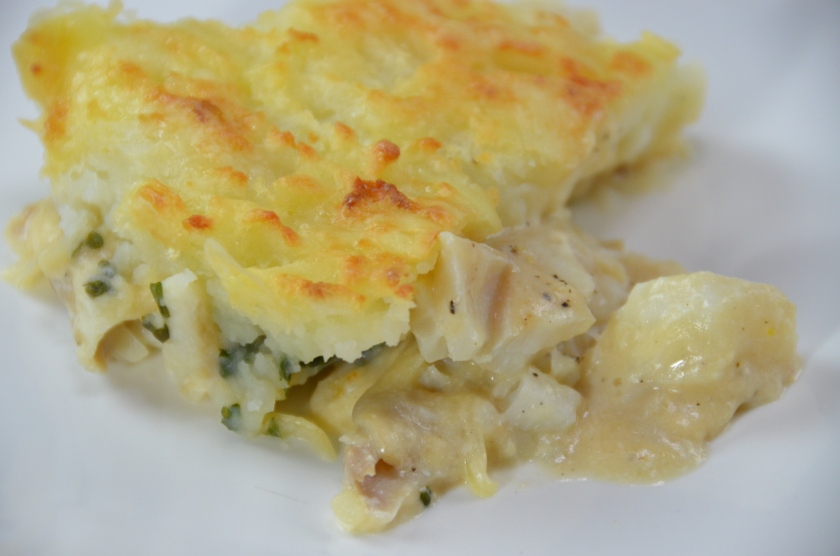 fish pie with white miso